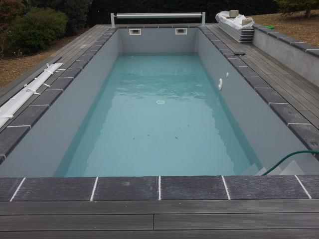 Gris clair r novation piscine rh nes alpes for Piscine hors sol gris anthracite