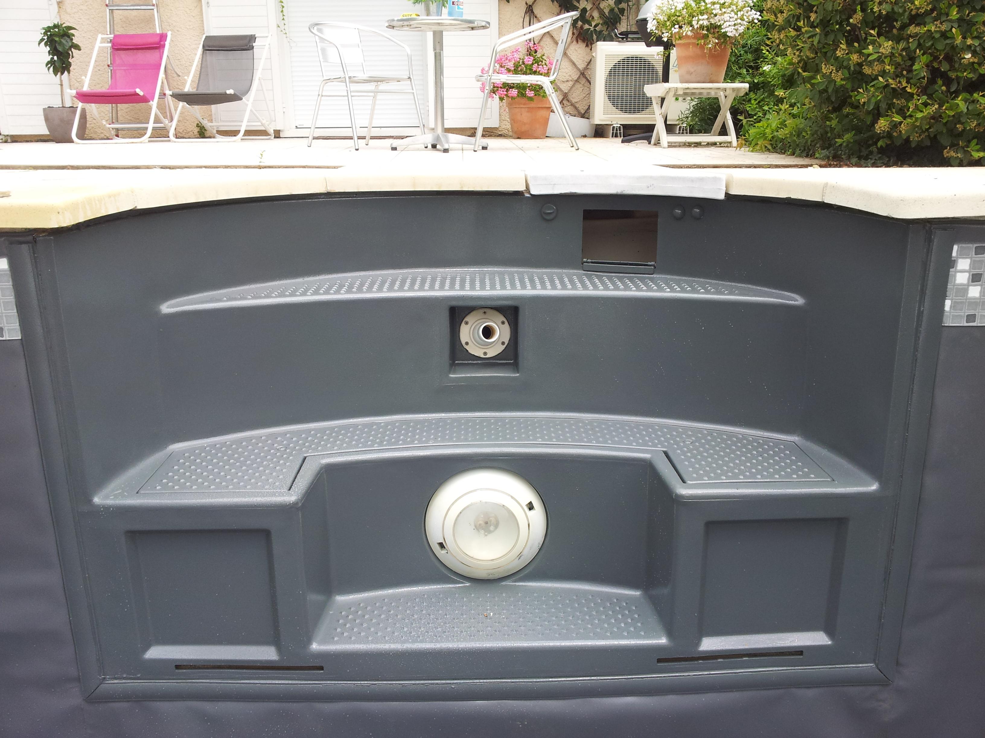 Peinture gris fon r novation piscine rh nes alpes for Piscine pvc arme gris fonce
