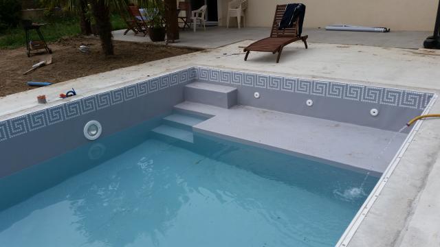 pvc mosa n acropole gris clair r novation piscine rh nes alpes. Black Bedroom Furniture Sets. Home Design Ideas